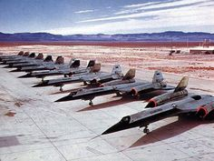 A-12's lined up. The SR-71's cousin