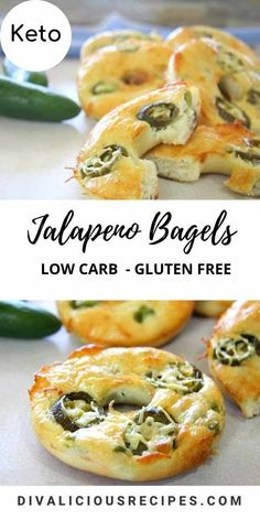 Made with Fathead dough, these keto jalapeno bagels make a spicy breakfast or snack on the go! #fatheaddough #keto #lowcarb #ketobagel #lowcarbbreakfast #lowcarbbagel Low Carb Bagels, Keto Bagels, Low Carb Keto, Keto Bread, Low Carb Blog, Low Calorie Breakfast, Breakfast Recipes, Dinner Recipes, Breakfast Casserole