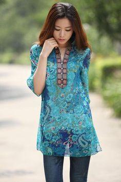 Chiffon bohemian casual dress