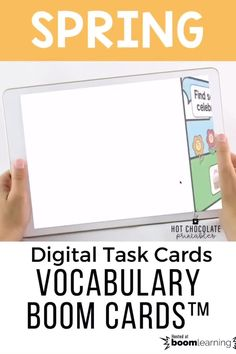 Build vocabulary with this set of Spring Theme Digital task cards English Vocabulary Games, Vocabulary Building, Grammar And Vocabulary, Teacher Must Haves, Grammar Practice, Classroom Language, Spring Activities, Task Cards, Teaching English