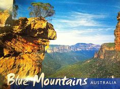 Beautiful landscape in the Blue Mountains of Australia. Sent by a Postcrosser in that country.(Postcrossing AU-105843)