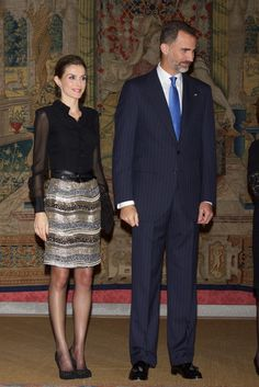 Queen Letizia of Spain Photos: Spanish Royals Host a Reception