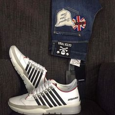 Patched Denim, Jeans Shoes, Dsquared2, Adidas Sneakers, Patches, Guys, Fashion, Adidas Tennis Wear, Moda