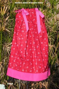 Valentine Hearts and swirls pillowcase dress-size | sweetsouthernsass - Clothing on ArtFire