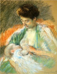 Mother Rose Nursing Her Child by Mary Cassatt