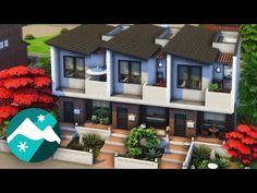 Sims 4 House Plans, Sims 4 House Building, Sims 4 House Design, Sims 4 Cc Furniture, Sims 4 Build, Sims 4 Houses, Starter Home, Sims Cc, Sims 3 Apartment