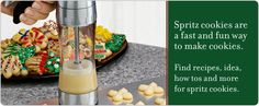 Spritz Cookies - all sorts of recipes and tips