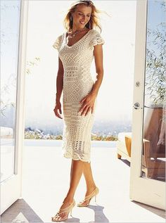White crochet dress…….. Lot of detail here
