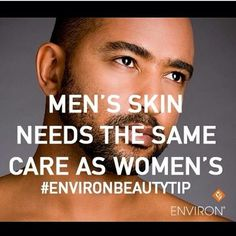 Men start looking after your skin for a more youthful, healthy and glowing skin! There's no shame in taking care and looking that good! So start using #environ today for proven results! #environ #iiaa #professional #skincare #formenandwomen #provenresults #youthfullness #glowing #lighteningandbrightning #vitamins #antioxidants #beautifulskin
