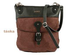 Cross body bag in Black/Brown Tuesday bag in by TaskaHandbags, $90.00
