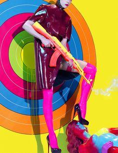 Numéro 87 Oct 2008  Model: Masha Novoselova Photographer: Miles Aldridge Title: Bang bang.2