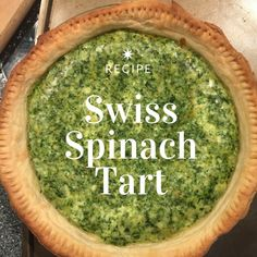 Spinach tart is a traditional Swiss recipe and is delicious and easy to make. #swisscuisine #swissfood #spinach #spinachtart #spinatwaehe