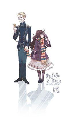 """ Fanart of La Passe-Miroir, a French book series :) "" Fangirl, Daughter Of Smoke And Bone, Art Manga, Anime Art, Super Images, Girls Mirror, Dark Skin Girls, A Series Of Unfortunate Events, Book Aesthetic"