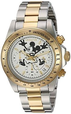 Invicta Men's 'Disney Edition' Quartz Stainless Steel Casual Watch, Color:Two Tone (Model: 22865) * This is an Amazon Associate's Pin. You can find out more details at this Amazon Affiliate link.