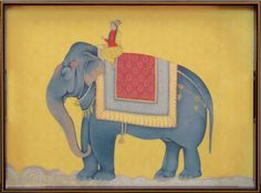 Royal Elephant Rectangular Lacquer Serving Tray