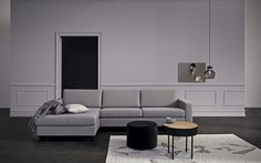 We love the beautiful cool tones of this grey Scandinavian living room. Shop the items now at nyde.co.uk.