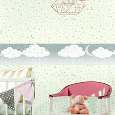 Night Sky Border. Young at Heart book by York Wallcoverings.