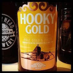 Hook Norton Brewery - Hooky Gold - Pale Gold and Zesty - 4.1% ABV - a mix of American Willamette with English Fuggles & Goldings - delicately fruity with spicy and moderate bitterness