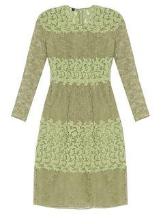 Burberry Prorsum Long-sleeved floral-lace and macramé dress