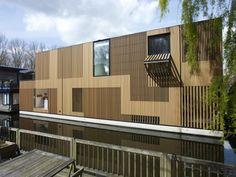 Water Villa,  Amsterdam, The Netherlands by Framework Architects + Studio Prototype. Photograph by Jeroen Musch.