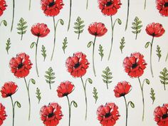 Red Poppy Natural Cotton Fabric by Clarke & Clarke, Poppy Meadow Fabric, Botanical Fabric, Floral Poppies, Botanical Natural Fabric Clarke And Clarke Fabric, Roman Blinds, Roller Blinds, Red Poppies, Soft Furnishings, Poppy, Craft Projects, Cotton Fabric, Colours