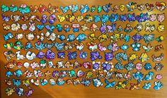 Pokemon Generation 1 Kanto hama beads by Pumone