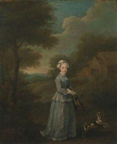 Portrait de Miss Wood, avec un chien, vers 1730 William Hogarth 18th Century Clothing, 18th Century Fashion, Miss Wood, Oil On Canvas, Canvas Prints, William Hogarth, Riding Habit, Google Art Project, Wood Dog