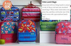 Back-To-School Essentials Kids Lunch Bags: www.teelieturner.com #backtoschool