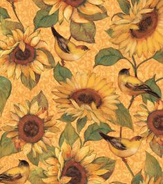 Susan Winget Quilt Fabric- Autumn Sun Perched Birds : premium quilting fabric : quilting fabric & kits : fabric :  Shop | Joann.com