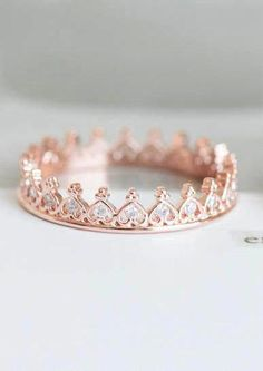 Heart Crown Ring/crown Jewelry/stacking Ring/couple Ring/heart Ring/princess Cut Ring/stacked Ring/ Pink Stacking heart crown ring - would make a great purity ring.Stacking heart crown ring - would make a great purity ring. Cute Rings, Unique Rings, Beautiful Rings, Cute Promise Rings, Crown Promise Ring, Cute Jewelry, Gold Jewelry, Jewelry Accessories, Jewlery