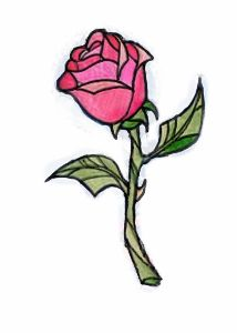 beauty and the beast rose tattoo - Google Search
