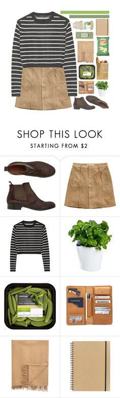 """'cause all of the stars are fading away"" by i-smell-grunge ❤ liked on Polyvore featuring Toast, H&M, TIBI, Royal VKB, Armand Diradourian, Paperchase, white, black, GREEN and brown"