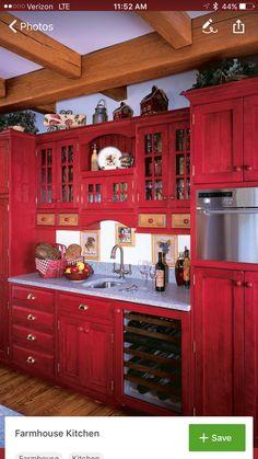 Similar Ideas Red KitchenKitchen