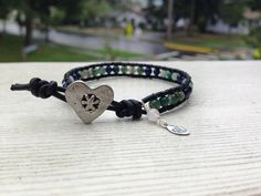 Friendship and Love  Leather Wrap Bracelet Jade Lapis Turquoise Agate Rose Quartz by OffOnAWhimJewelry, $23.50
