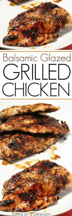 Here is an easy grilled chicken recipe. Try this balsamic glazed chicken today! … Here is an easy grilled chicken recipe. Try this balsamic glazed chicken today! This is our favorite quick and and easy chicken recipe. Grilling Recipes, Cooking Recipes, Healthy Recipes, Drink Recipes, Yummy Recipes, Grilling Ideas, Bbq Ideas, Barbecue Recipes, Simple Recipes