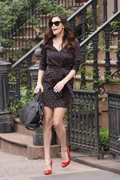 Liv Tyler looking perfect in polkadots! The actress was glowing as she left her New York apartment
