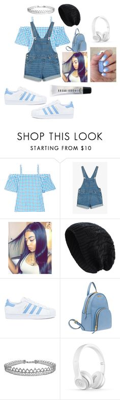 """Baby blue"" by janysha2369 ❤ liked on Polyvore featuring Draper James, Monki, adidas, Miu Miu, Humble Chic and Bobbi Brown Cosmetics"