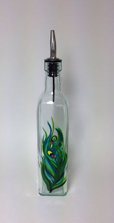 A personal favorite from my Etsy shop https://www.etsy.com/listing/230292971/peacock-feather-olive-oil-or-soap-bottle