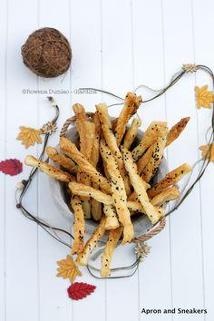 Cheese Straws with Parmigiano Reggiano, Sesame Seeds & Fleur de Sel