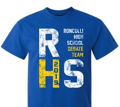 ee4f1336 High School Impressions Custom Speech & Debate Team T Shirts - Create your  own design for t-shirts, hoodies, sweatshirts. Choose your Text, Ink and  Garment ...
