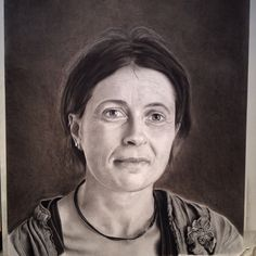"""Stephanie"" graphite and charcoal on Bristol vellum, 57x72cm."