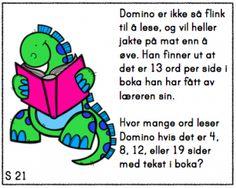 Skjermbilde 2015-09-20 kl. 10.28.40 Brain Teasers, Word Problems, Teacher, Education, Math, Words, Children, First Grade, Toddlers