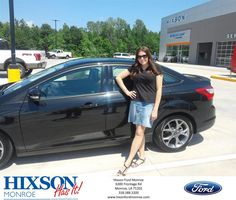 Happy Anniversary to Grace on your #Ford #Focus from Scott Turner at Hixson Ford of Monroe!  https://deliverymaxx.com/DealerReviews.aspx?DealerCode=M553  #Anniversary #HixsonFordofMonroe