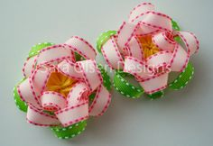 Pair of 2 Light Pink Bright Pink Yellow and by SaraOlsenDesigns, $7.25
