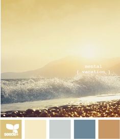 Mental Vacation. So pretty and soft. Very versatile palette to add colors without going too bold.