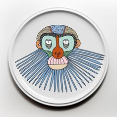 Ceramic plates from the PRIMATES series by Elena Salmistraro for Bosa.