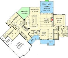 handsome and spacious craftsman house plan 46309la 1st floor