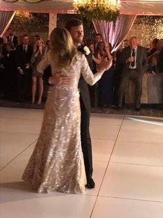 Dale Jr. dances with his mom, Brenda at his wedding. Dec. 31, 2016