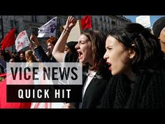 Paris Labor Protests Turn Violent: VICE News Quick Hit - YouTube