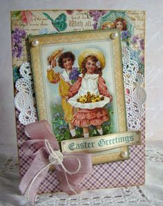 Easter Card...Graphic 45 Sweet Sentiments